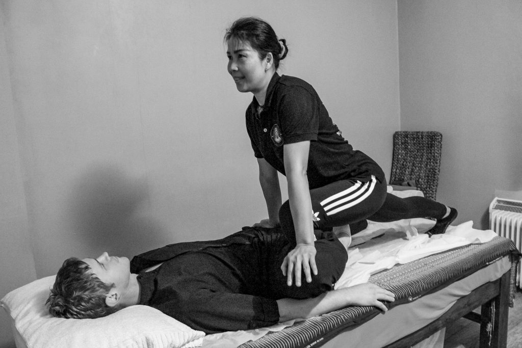 Traditional Thai Massage Hip Stretch