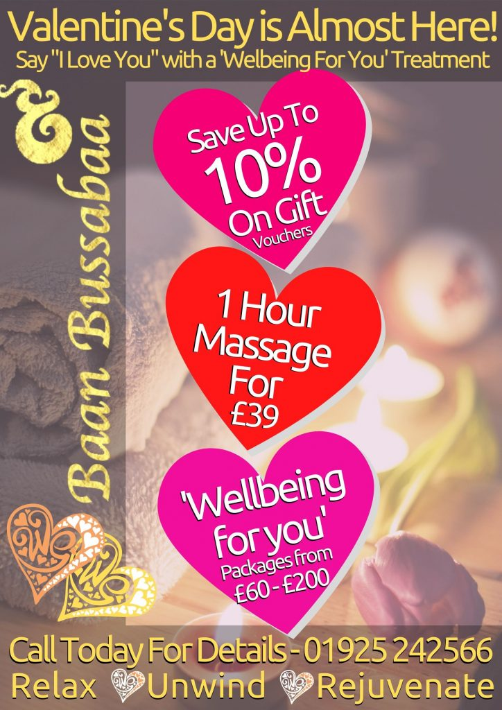 Last Minute Valentine's Gifts In Warrington - Thai Massage